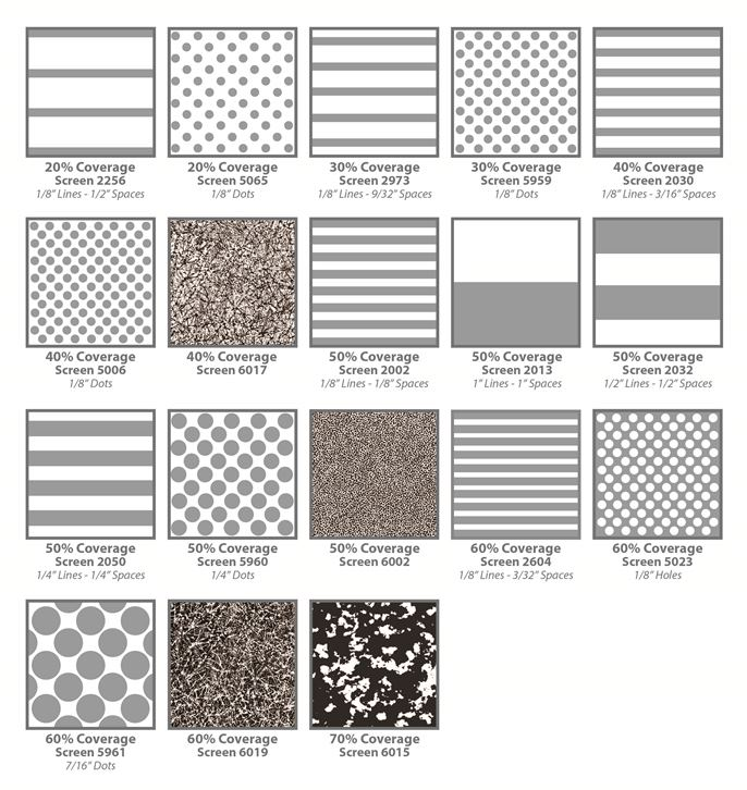 Silk-screen Patterns for Architectural Glass