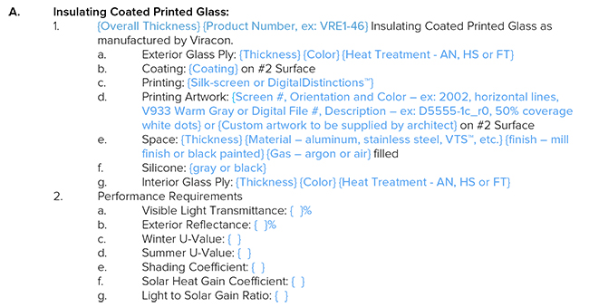 Spec sample by Viracon